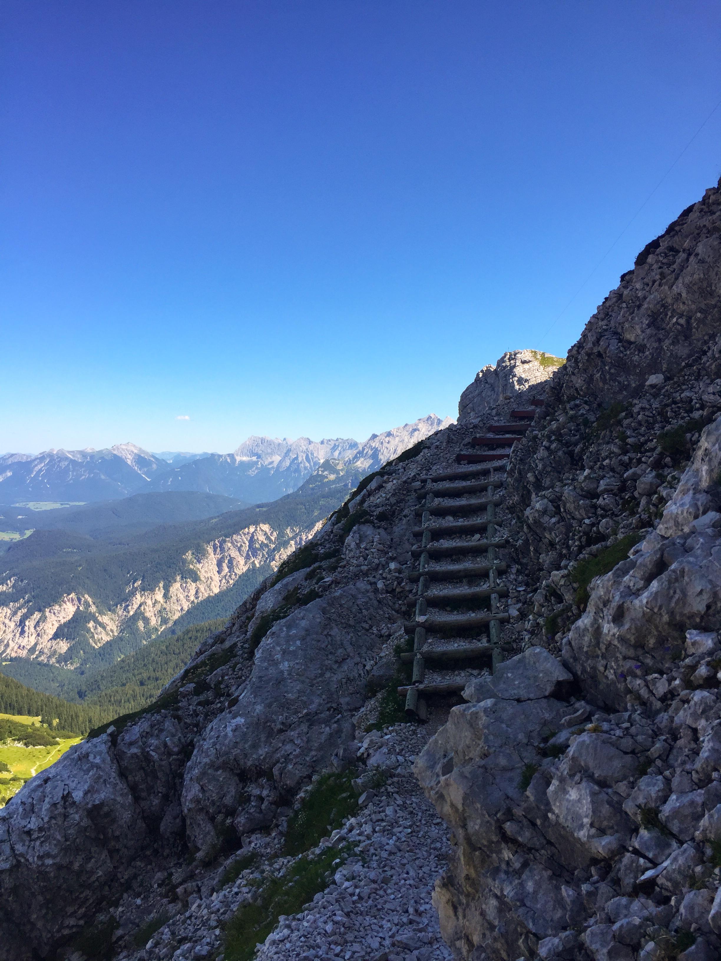 Richtung Alpspitz und Bernadeinkopf